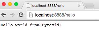 Pyramid应用运行情况