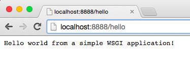 Simple WSGI Application