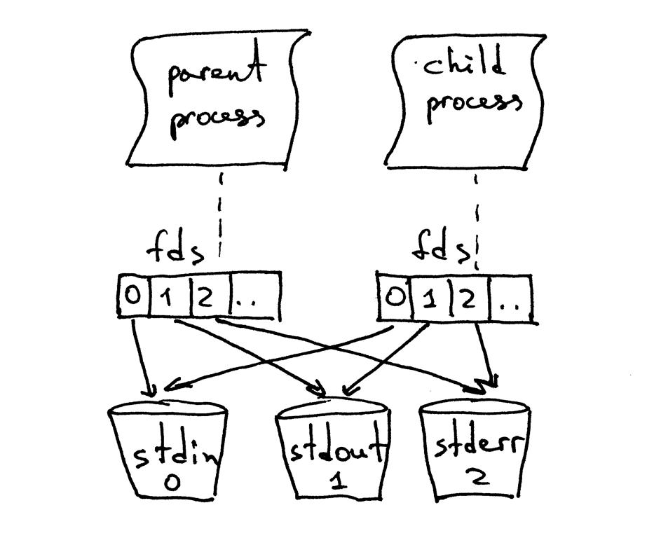 当父进程fork一个新的子进程时,子进程会得到父进程文件描述符的副本